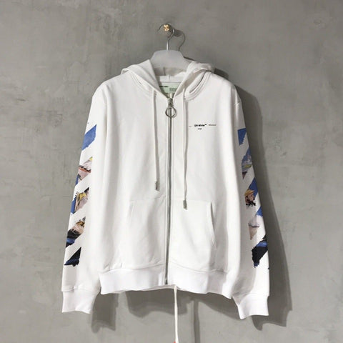 Off-White Colored Arrow Zip Hoodie