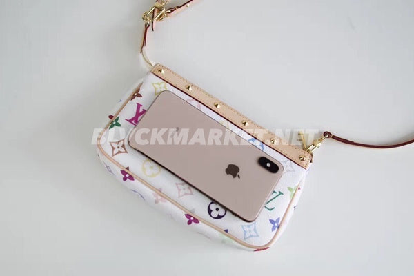 Louis Vuitton x Takashi Murakami Monogram Pochette Bag White Multicolour