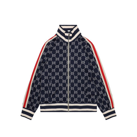 Gucci Tapered Striped Logo-Intarsia Track Jacket
