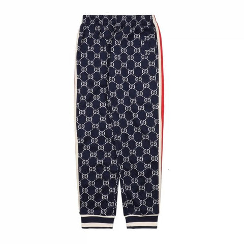 Gucci Tapered Striped Logo-Intarsia Track Pants