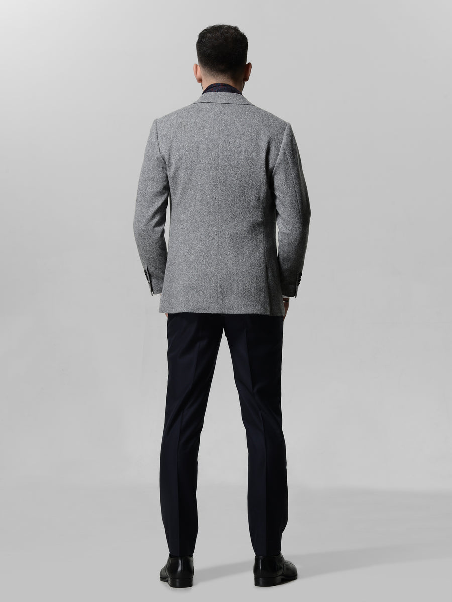 Light Grey Donagel Sport Jacket by Japanese Wool Nylon Fabric