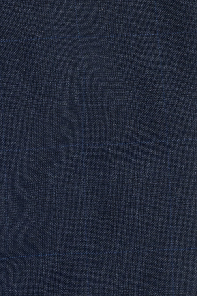 Prince of Wales Checks Dark Navy Suit by Huddersfield Textile, England