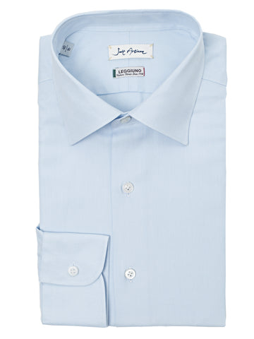 Light Blue Classic Collar Shirt by Leggiuno s.p.a.