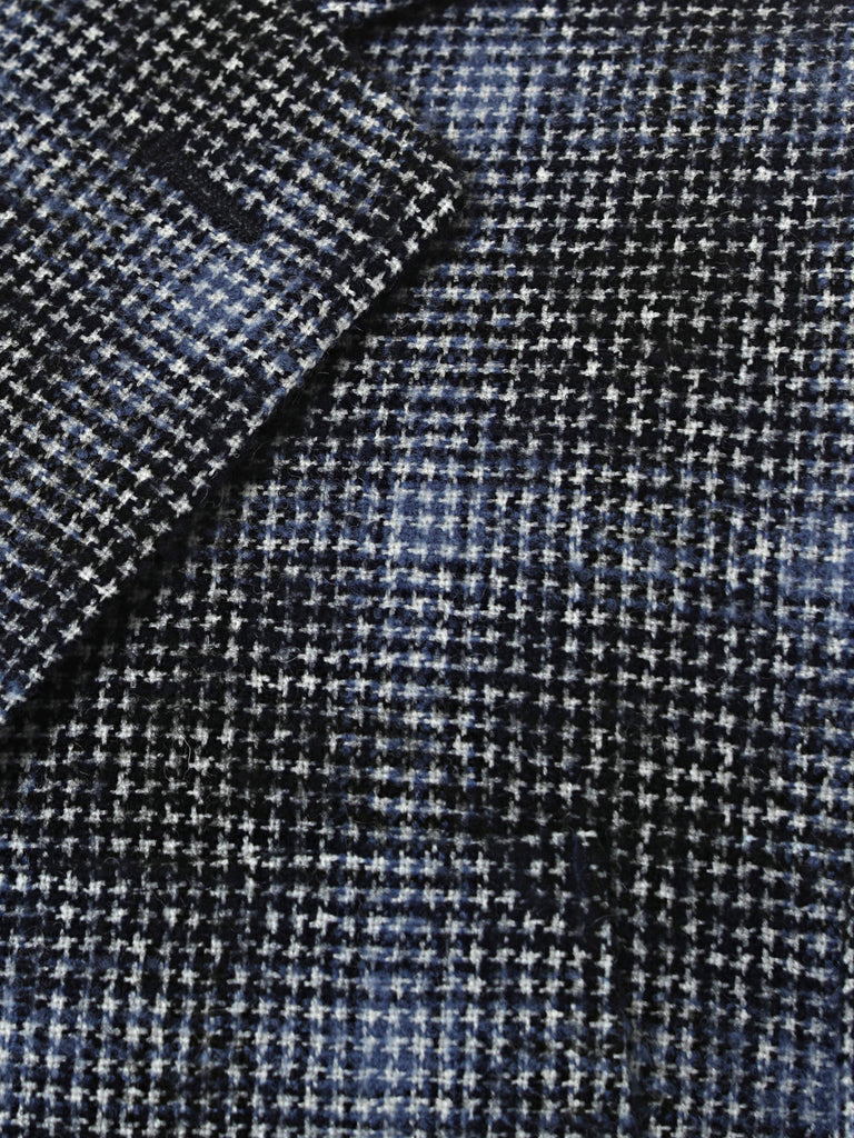 Houndstooth Navy Sport Jacket by Japanese Wool Nylon Fabric