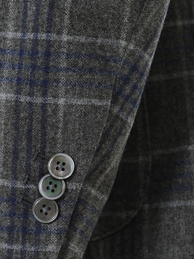 Wool Silk Glen Plaid Sport Jacket by Vitale Barberis Canonico