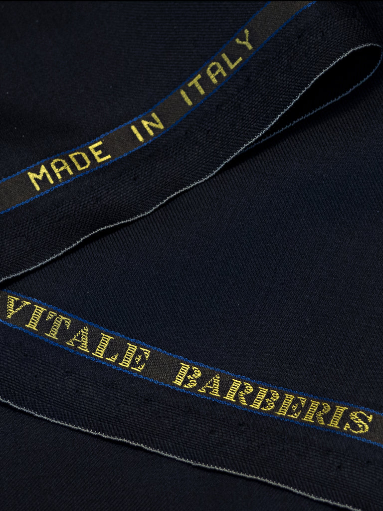 Dark Navy All Seasons Suit by Vitale Barberis Canonico Super 110s' Fabric