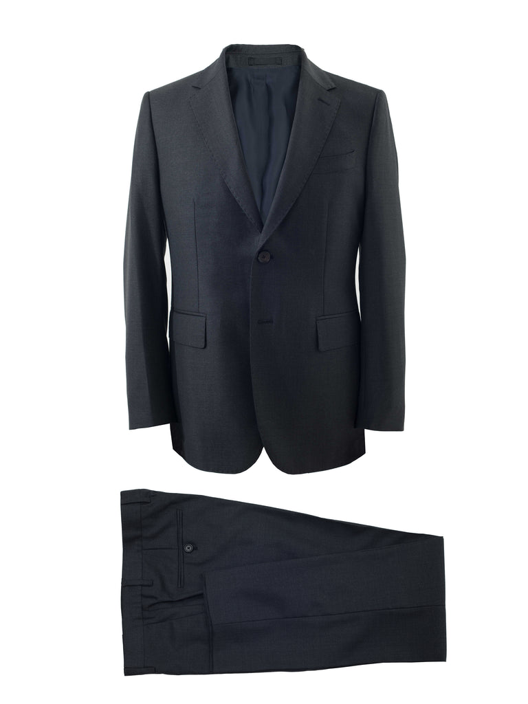 Charcoal Grey All Seasons Suit by Vitale Barberis Canonico Super 110s' Fabric
