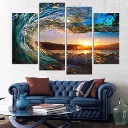 Stunning Seascape 4 Piece Canvas Art