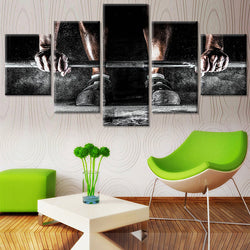 Bodybuilding Fitness Unframed Canvas Art Painting