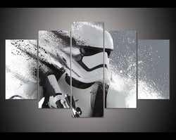 5 Panel Stormtrooper Star Wars Movie Canvas Art Painting