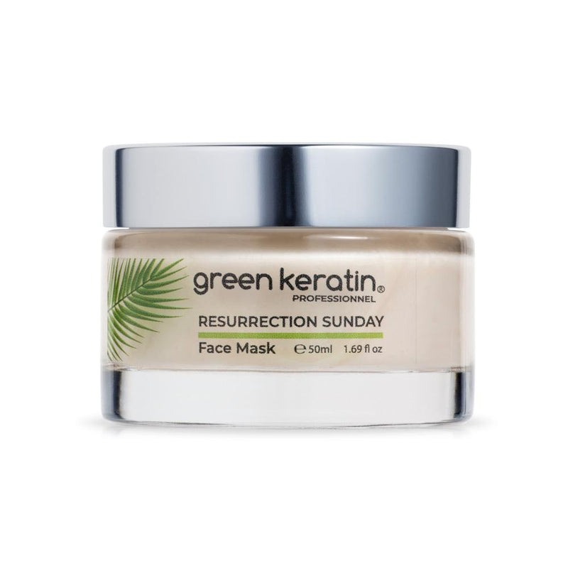 Green Keratin FACE MASK RESURRECTION SUNDAY Face Mask