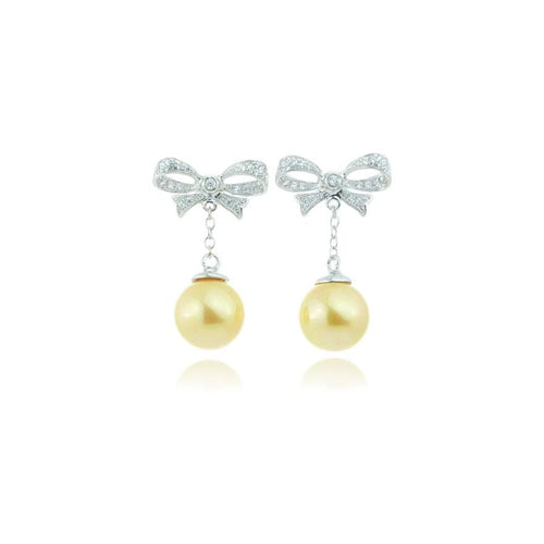 Mousse Jewellery - Light Gold Pearl Earrings