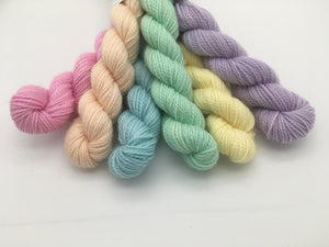 Unicorn Rainbow ~ Mini Skein Set