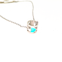 Baby Blue Heart Necklace