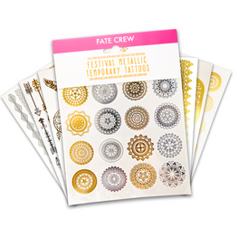 Metallic Festival Temporary Tattoos