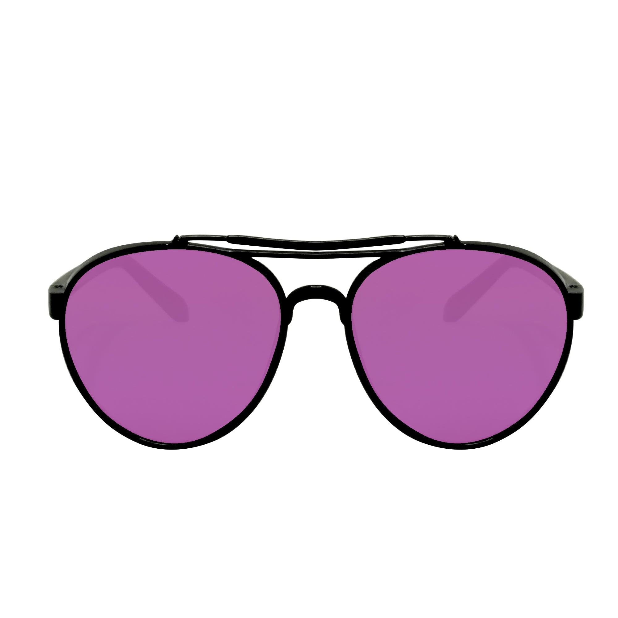 Spec Frames - Black w/ Purple Lens
