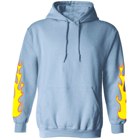 Light Blue Flames Hoodie