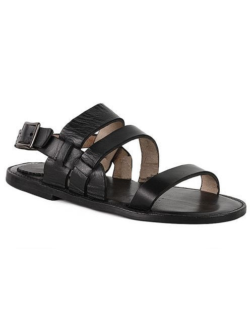 Black Governors Mill Design Sandals