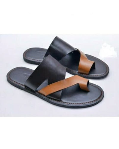 Governors One Toe Brown and Black Slippers