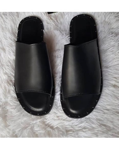 All Black Cover Slippers