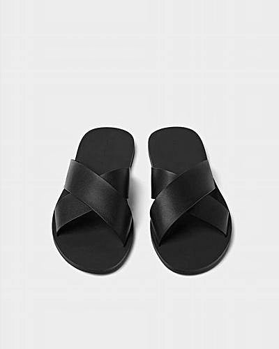 Black Cross Slippers - Governors