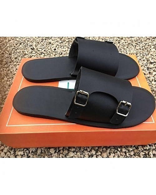 Black Governors Monk Strap Slides