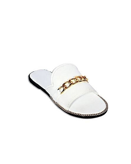 White Cover Fold Slippers