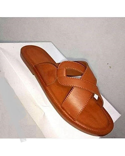 Brown Clawed Governors Slippers
