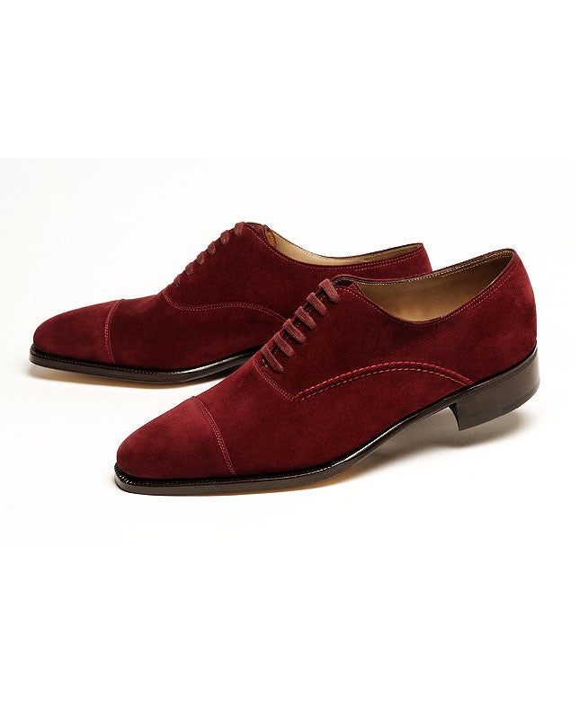 Maroon Suede Lace up Shoes