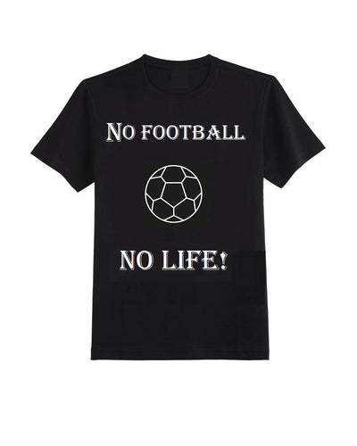 BLACK VINTAGE FOOTBALL T-SHIRT (Glow In The Dark)
