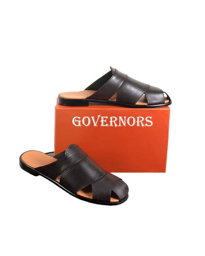 Governors Dark Brown Cover Leather Slippers