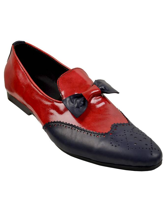 MEN PATENT BOWTIE BROGUES LOAFERS