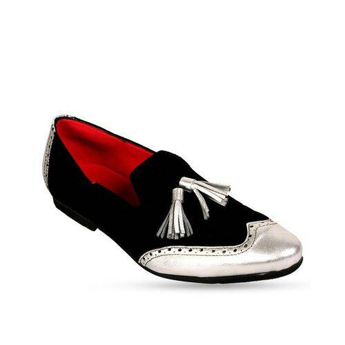 KENN BANKS EXQUISITE BROGUES - BLACK AND SILVER