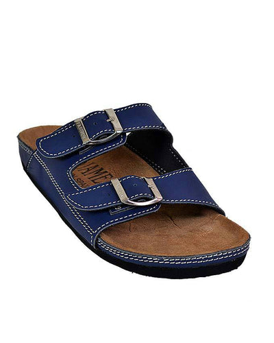 Mens Double Buckle Slip on - Blue