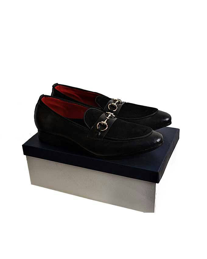 Leather Suede Mix Belgian Loafers