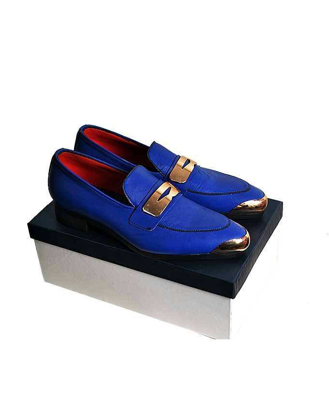 Pure Leather Belgian Gold Plated Loafers