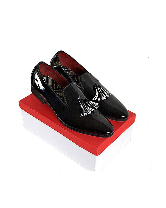 Patent Tassel Churchill Shoes