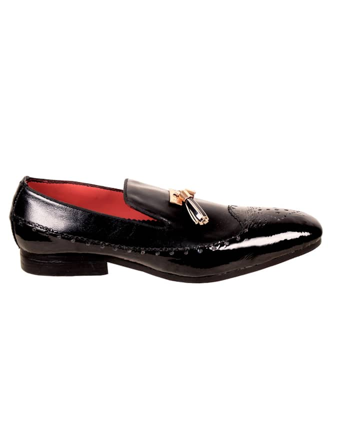 Mens Patent Leather Brogues With Tassel