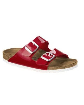 Birkside Shining Red Leather Slippers
