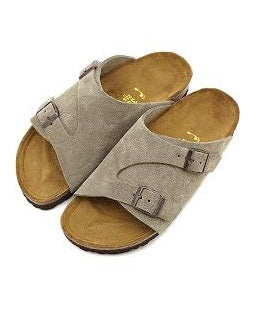 Men's Double Monk Strap Suede Slippers