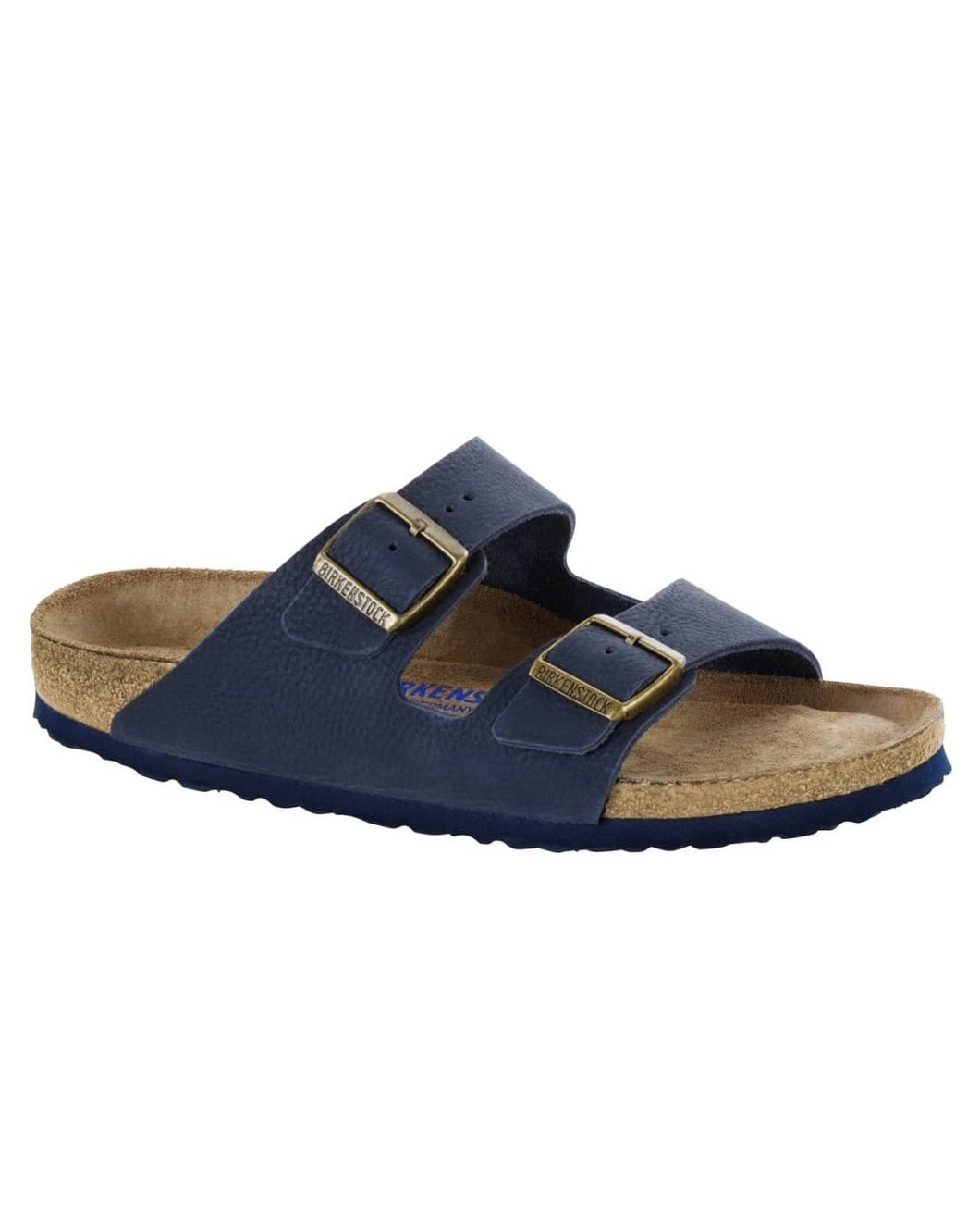 Men's Double Buckle Navy Blue Slippers