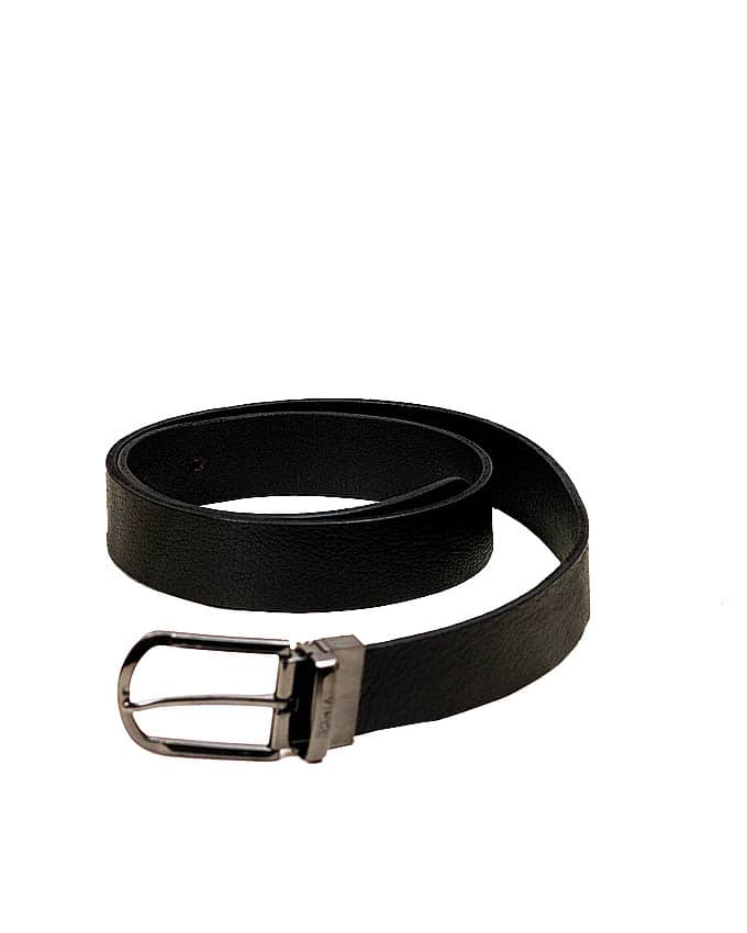 Black Chrome Buckle Leather Belts