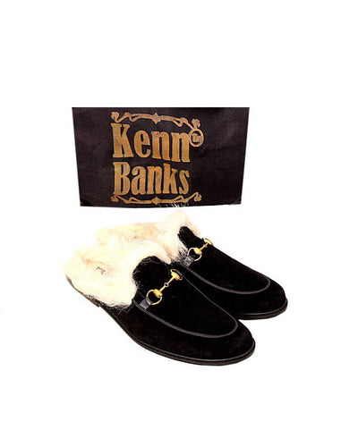Kenn Banks Suede Wool Design Half Shoe