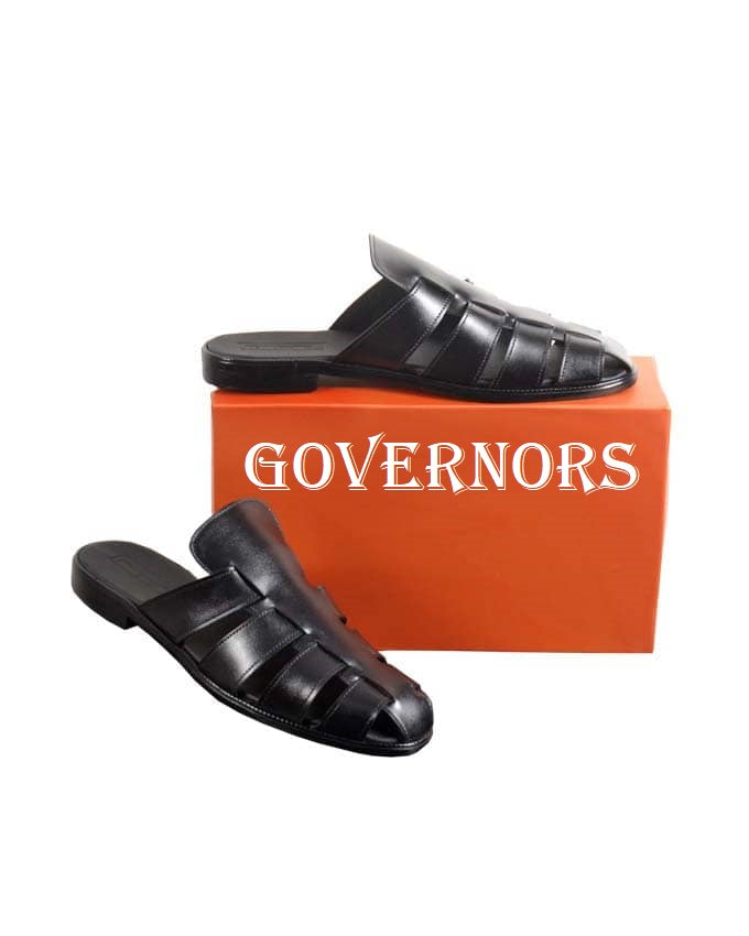 ALL BLACK GLADIATOR HALF SHOE MULES