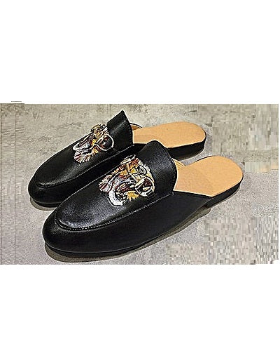 KENN BANKS TIGER HEAD HALF SHOE MULES