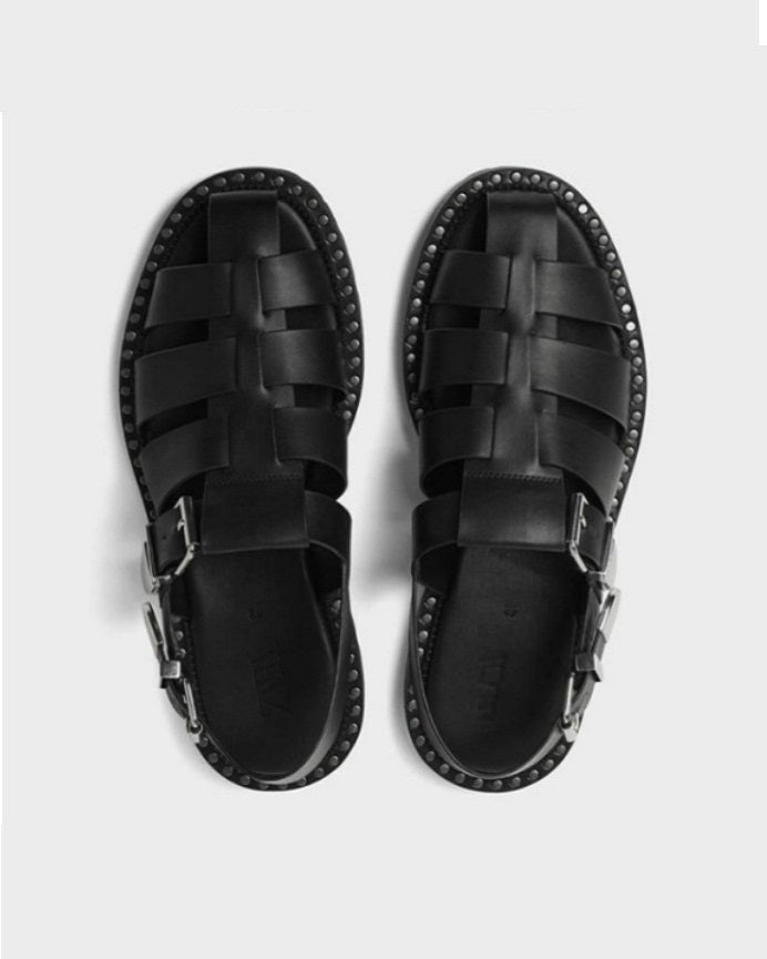 Black Matured Casual Sandal For Men