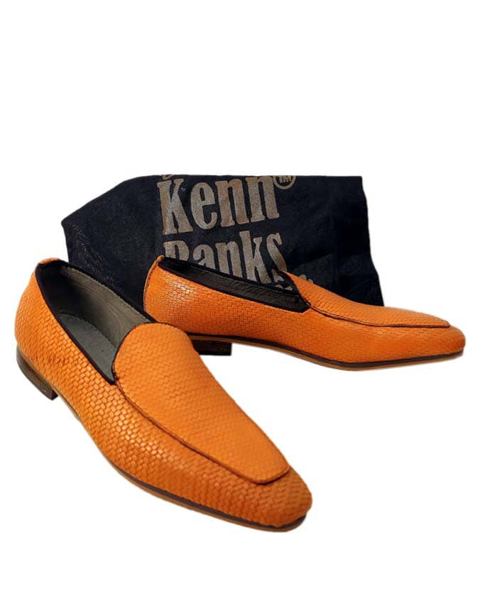 Kenn Banks Exquisite Net Leather Loafers - Carton Brown