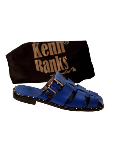 Kenn Banks Studded Half Shoe Slippers - Blue