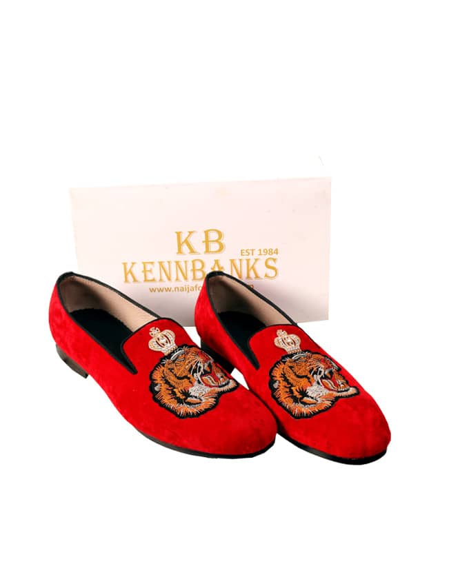 Kenn Banks Tigerhead Design Loafers