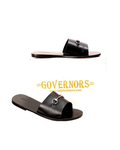 Simple Crane Cover Governors Leather Slippers